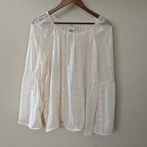 Knox Rose sheer boho blouse